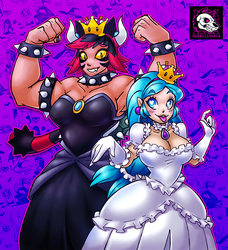 Booette and Bowsette Halloween Costumes by Darksilvania