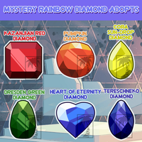 SP :||: MYSTERY GEM ADOPTS (4/6 OPEN) (LOWERED) by ghostlymoon-adopts