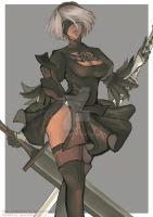 Nier: Automata (2B) by soledesire