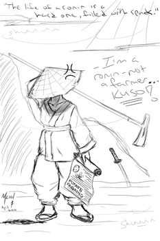 Sketch Game: potato samurai book by LadyOyuki