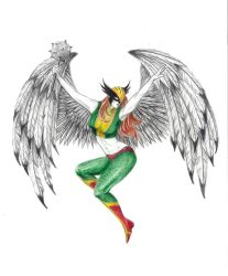 Hawkgirl by HenchGoose