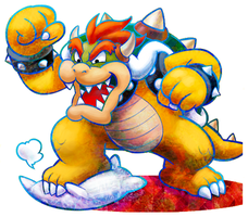 Bowser Artwork (Mario and Luigi: Dream Team) by Fawfulthegreat64