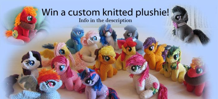 (Give-away) Win a custom knitted plushie! (ENDED) by haselwoelfchen