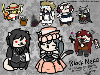 ~A black Butler/Neko Atsume Crossover~ Black Neko by GAmesterAxela