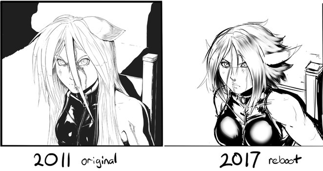 Comparison - old inks vs new sketches by AphexAngel