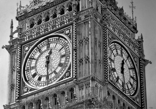 Hyperrealism. Big Ben pencil drawing ...Half time. by keithmore2000