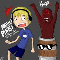 PewDiePie: Play Doom 3 they said.. by Naruto1a2a3a