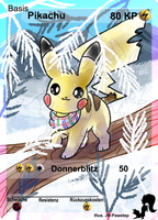 Winter Pikachu - Full Art Card by JB-Pawstep