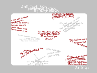 Fall Out Boy Lyric Brushes by evyblack