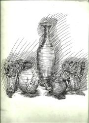 Vase and Horses by lespapillons