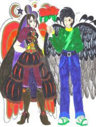 Staria and Noah On A Date by Winter-Colorful