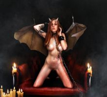 Evil Succubus Alexa by Lexlucas chained 2 by FueledbypartII
