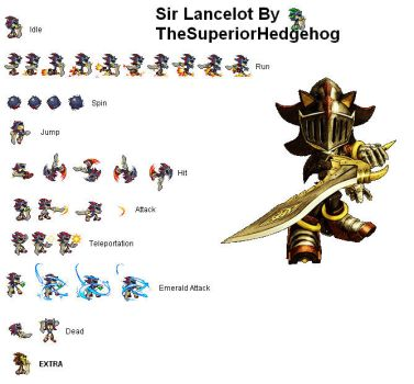 Sprites Sir Lancelot by CidrosHedgehog