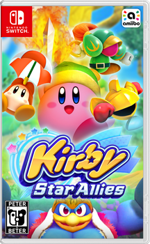 Kirby Star Allies Nintendo Switch Cover by PeterisBeter