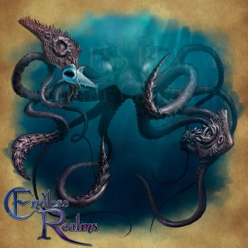 Endless Realms bestiary - Kraken by jocarra