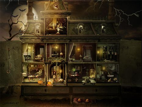 Dollhouse Halloween by SoulcolorsArt
