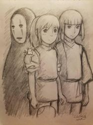 Spirited Away Painting Sketch by DNLINK
