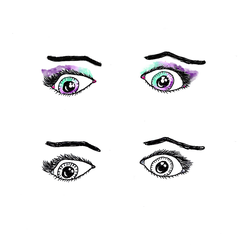 Midnight Eyes - Coloured And Mono by I-Do-Care
