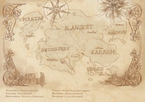 Old Fantasy Map of Alanskat by YummingDoe4