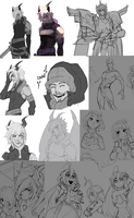 Doodle dump--mostly Virgin Soul by LillinApocalypse