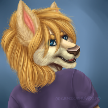 Painted Portrait by OokamiCasha