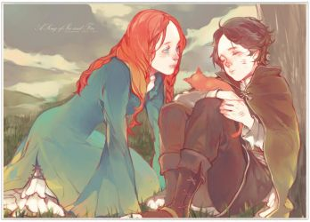 Little Catelyn and Little Petyr by Wavesheep