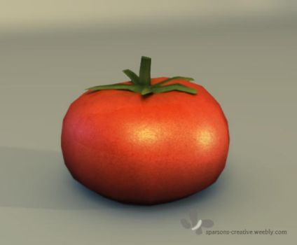 3D Tomato by Azrelae