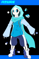 [ANOTHERTALE REF] Azure the skeleton by Azureanothertale