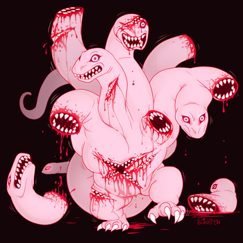 Toothy Hydra by blinkpen