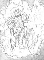 samus in caverns by rasendori