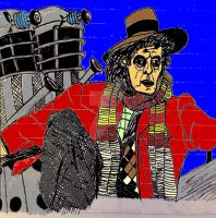 Peter Capaldi as Tom Baker as Dr. Who (Color) by ethicistforhire