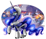 Winter Pony - Princess Luna by selinmarsou