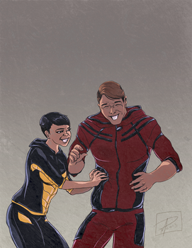 A Couple of Avengers by jadenwithwings