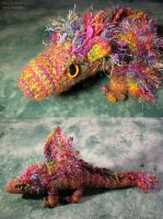 Rainbow Muppet Dragon Plushy by sunhawk