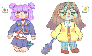 adopts: paranormal babes | 1/2 open by eggcellentegg