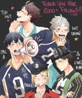 [Haikyuu!!] thanks for the follows by a-zebra-was-here