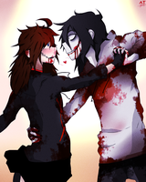 Zebony x Jeff the Killer by tetomokun
