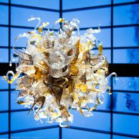 Chiluly Blown Glass Chandelier at Dusk by KBeezie