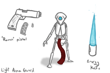Light Arena Guard Concept by TrickySoldier