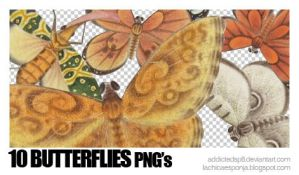 10 butterflies PNG by addictedsp8