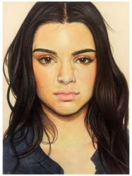 Kendall Jenner - coloured pencils by AnsuLascelles
