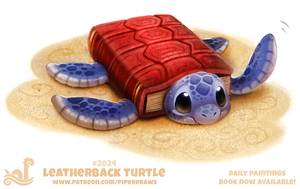 Daily Paint 2024# Leatherback Turtle by Cryptid-Creations