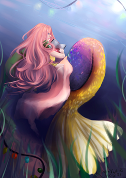 Colorful mermaid by AmyDrawArt