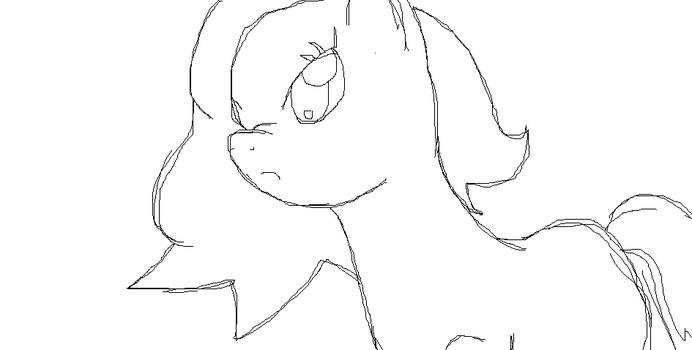 Unamed Pony Sketch on Paint by RiteMeow