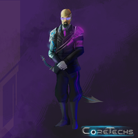 CoreTechs Concept Art: Technocrat Level 1 by HueTwo