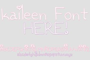 Kaileen Font by editionrocks