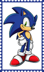 Sonic The Hedgehog Stamp by WOLFBLADE111