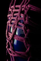 Red Rope on Blue Latex by Ange1ica