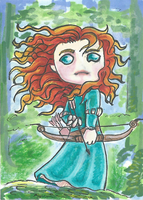 Merida Sketch Card by Seccrani
