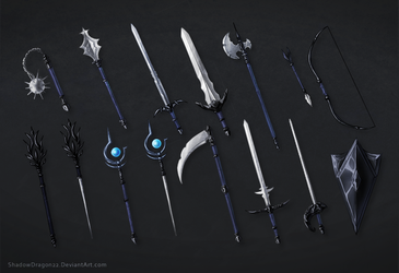 Weapons of Eustace Commission Batch by ShadowDragon22